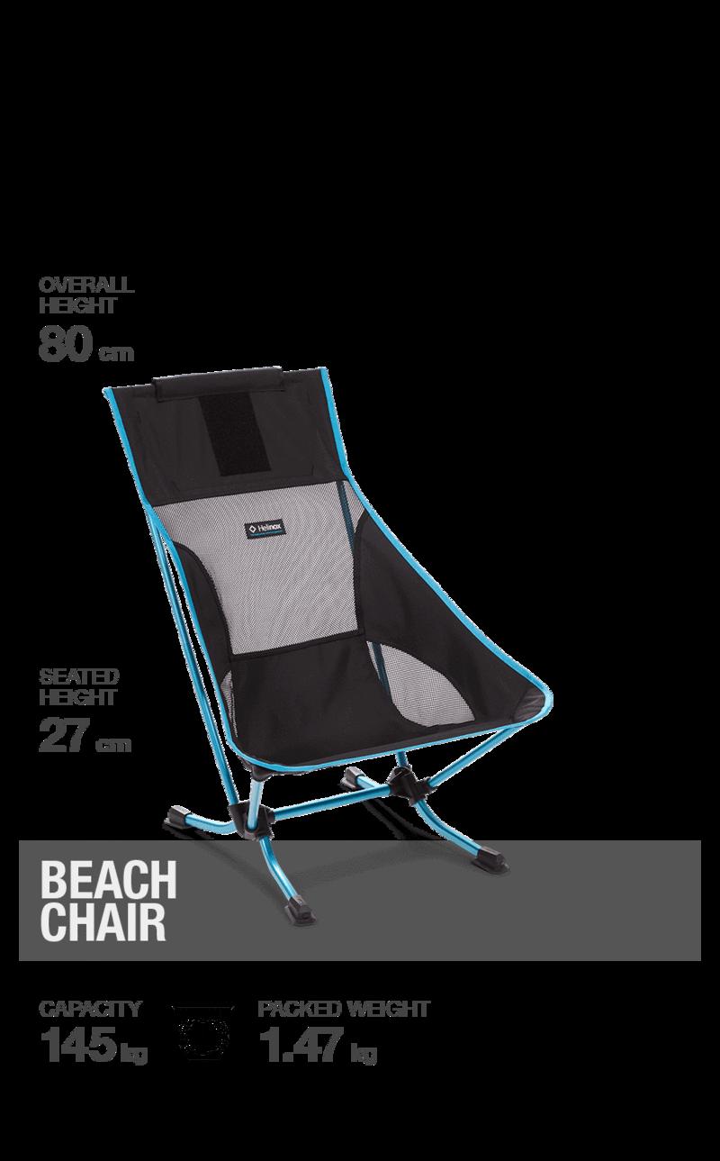 Helinox Beach Chair blue stripe